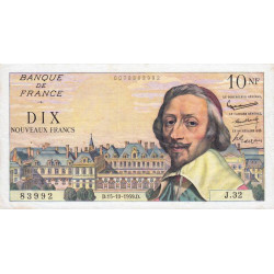 F 57-3 - 15/10/1959 - 10 nouv. francs - Richelieu - Etat : TTB+