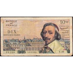 F 57-03 - 15/10/1959 - 10 nouv. francs - Richelieu - Série Y.39 - Etat : TB-