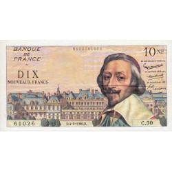 F 57-05 - 04/02/1960 - 10 nouv. francs - Richelieu - Série C.50 - Etat : TTB+