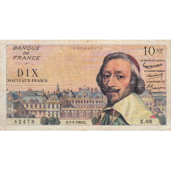 F 57-06 - 07/04/1960 - 10 nouv. francs - Richelieu - Etat : TB