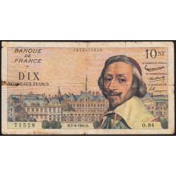 F 57-08 - 02/06/1960 - 10 nouv. francs - Richelieu - Série O.94 - Etat : B