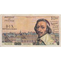 F 57-08 - 02/06/1960 - 10 nouv. francs - Richelieu - Série P.89 - Etat : TB+