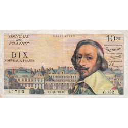 F 57-11 - 04/11/1960 - 10 nouv. francs - Richelieu - Etat : TTB