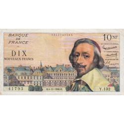 F 57-11 - 04/11/1960 - 10 nouv. francs - Richelieu - Série Y.132 - Etat : TTB