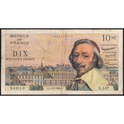 F 57-12 - 01/12/1960 - 10 nouv. francs - Richelieu - Série S.147 - Etat : TB