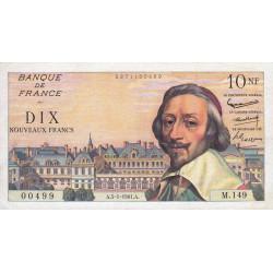 F 57-13 - 05/01/1961 - 10 nouv. francs - Richelieu - Série M.149 - Etat : TTB+
