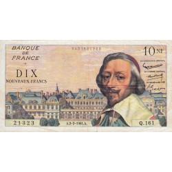 F 57-14 - 02/02/1961 - 10 nouv. francs - Richelieu - Série Q.161 - Etat : TTB
