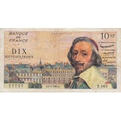 F 57-14 - 02/02/1961 - 10 nouv. francs - Richelieu - Etat : TB+ à TTB-