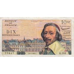 F 57-15 - 06/04/1961 - 10 nouv. francs - Richelieu - Etat : TTB