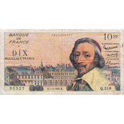 F 57-18 - 05/04/1962 - 10 nouv. francs - Richelieu - Etat : TB