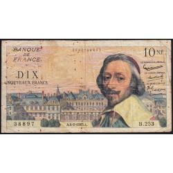 F 57-22 - 04/01/1963 - 10 nouv. francs - Richelieu - Série B.253 - Etat : B+