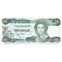Bahamas - Pick 43b - 1 dollar - Loi 1974 (1984) - Etat : NEUF