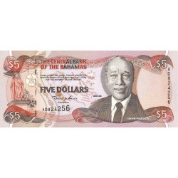 Bahamas - Pick 63b_2 - 5 dollars - Série AD - 2001 - Etat : NEUF