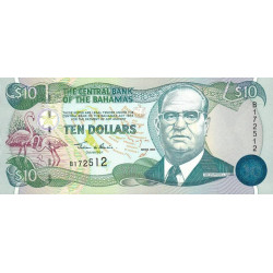 Bahamas - Pick 64 - 10 dollars - Série B - 2000 - Etat : NEUF