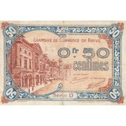 Brive - Pirot 33-1 - Série D - 50 centimes - Sans date - Etat : TB+