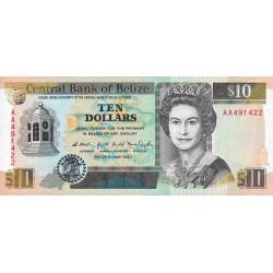 Belize - Pick 54a - 10 dollars - 1990 - Etat : NEUF