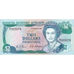 Bermudes - Pick 34a - 2 dollars - 1988 - Etat : NEUF
