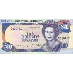 Bermudes - Pick 42b - 10 dollars - 15/03/1996 - Série B/2 - Etat : NEUF