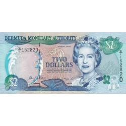 Bermudes - Pick 50a - 2 dollars - 24/05/2000 - Série C/1 - Etat : NEUF
