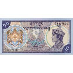 Bhoutan - Pick 15a - 10 ngultrum - Série D/1 - 1986 - Etat : NEUF