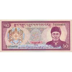 Bhoutan - Pick 17a - 50 ngultrum - 1986 - Série F/1 - Etat : NEUF