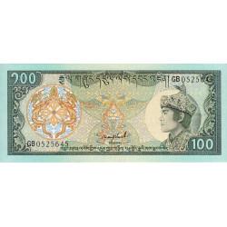 Bhoutan - Pick 18b - 100 ngultrum - 1989 - Série GD - Etat : NEUF