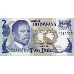 Botswana - Pick 7a - 2 pula - Série B/7 - 1982 - Etat : NEUF