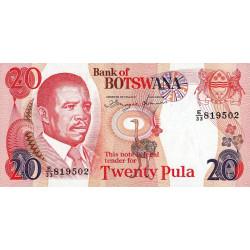 Botswana - Pick 18 - 20 pula - Série E/33 - 1997 - Etat : NEUF