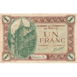 Brive - Pirot 33-2 - Série A - 1 franc - Sans date - Etat : TB+