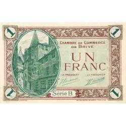 Brive - Pirot 33-2 - Série B - 1 franc - Sans date - Etat : SPL