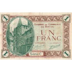 Brive - Pirot 33-2 - Série C - 1 franc - Sans date - Etat : TB+