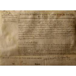 Seine - Paris - Louis XVI - Emprunt royal de 1781 - 9% sur 2 têtes - Etat : TTB+ à SUP