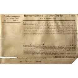 Seine - Paris - Louis XVI - Emprunt royal de 1787 - 7% sur 2 têtes - Etat : TB+