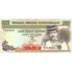 Brunei - Pick 16 - 50 dollars - 1989 - Etat : SPL