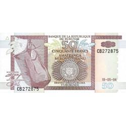 Burundi - Pick 36a - 50 francs - Série CB - 19/05/1994 - Etat : NEUF