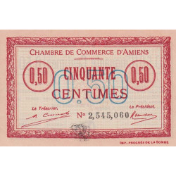 Amiens - Pirot 7-49 - 50 centimes - 1920 - Etat : SPL