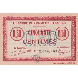 Amiens - Pirot 7-49a - 50 centimes - 1920 - Etat : SPL