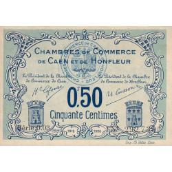 Caen / Honfleur - Pirot 34-4 - 50 centimes - Série 003 - 1915 - Etat : SUP