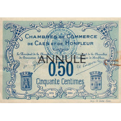 Caen / Honfleur - Pirot 34-05 - 50 centimes - Annulé - Etat : TTB+