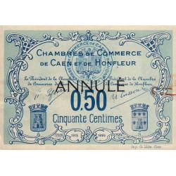 Caen / Honfleur - Pirot 34-5 - 50 centimes - 1915 - Annulé - Etat : TTB+