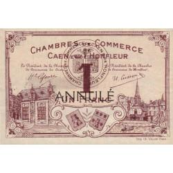 Caen / Honfleur - Pirot 34-7 - 1 franc - Annulé - 1915 - Etat : SUP