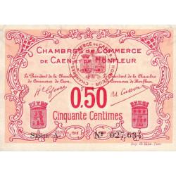 Caen / Honfleur - Pirot 34-12 - 50 centimes - Série A - 1915 - Etat : TTB+