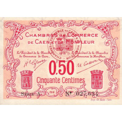 Caen / Honfleur - Pirot 34-12-A - 50 centimes - Etat : TTB+