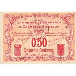 Caen / Honfleur - Pirot 34-12-A - 50 centimes - 1915 - Etat : SUP