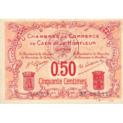 Caen / Honfleur - Pirot 34-12-A - 50 centimes - Etat : SUP