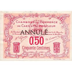 Caen / Honfleur - Pirot 34-13 - 50 centimes - Annulé - 1915 - Etat : SUP+
