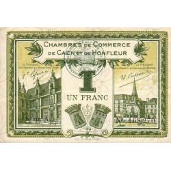 Caen / Honfleur - Pirot 34-14-A - 1 franc - 1915 - Etat : TTB
