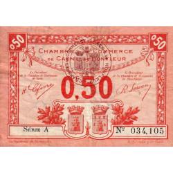 Caen / Honfleur - Pirot 34-16 - 50 centimes - Série A - 1920 - Etat : TB