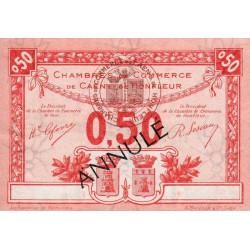 Caen / Honfleur - Pirot 34-17 - 50 centimes - Annulé - 1920 - Etat : SUP+