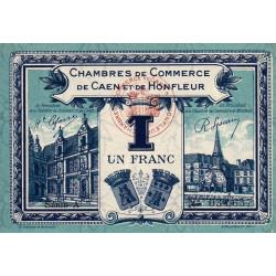 Caen / Honfleur - Pirot 34-18-A - 1 franc - 1920 - Etat : SUP